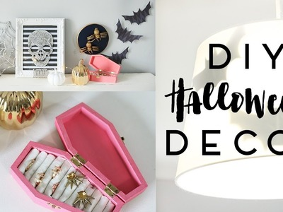 Halloween Decor DIYs | Room Decor or Party Decorations 2016