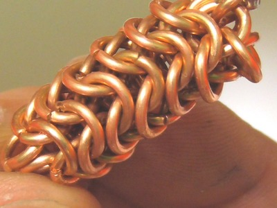 HOW TO DO ROUNDMAILLE CHAIN MAILLE WEAVE
