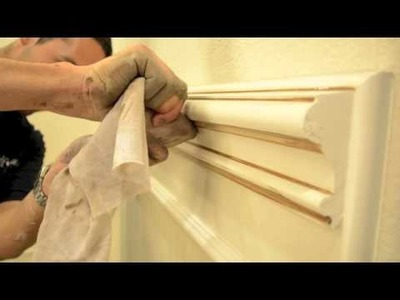 How to Glaze Architectural Moulding | Faux Finish