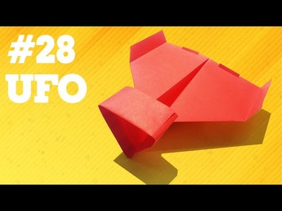 How to make a paper airplane that Flies - Simple Origami paper planes for Kids #28  UFO