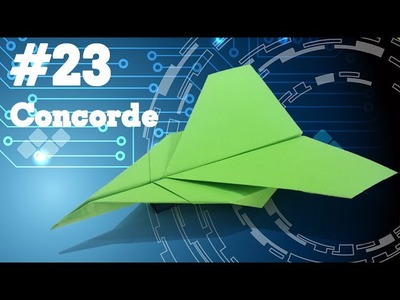 How to make a PAPER AIRPLANE that FLIES - Easy Origami paperplanes for kids #23 | Concorde