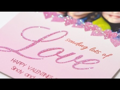 How to make glitter and sparkle effect on greeting cards BLING?