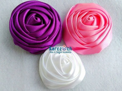 Kanzashi #22 - Ribbon rose no 1