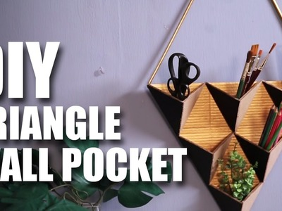 Mad Stuff With Rob - Triangle Wall Pocket | Room Decor Ideas