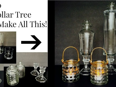 Make 2 Apothecary Jars & 2 Lanterns = $9 From Dollar Tree Supplies