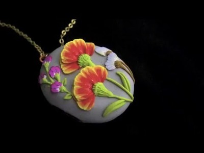 Making a floral locket using polymer clay canes