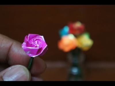 Mini Origami - How to make Mini Rose Origami (Version 5.1)