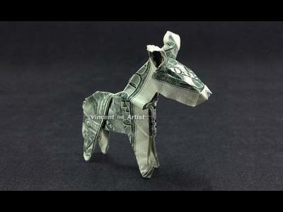 Money Origami Donkey - Dollar Bill Art - 360° view