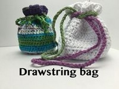 Ophelia Talks about Crocheting a Drawstring Bag (no counting stitches required!!)