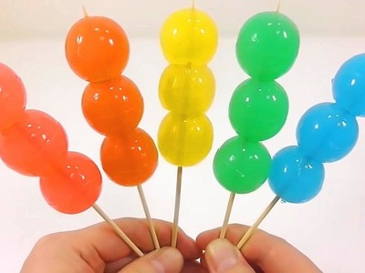 Orbeez Balls Skewered Gummy Pudding - Icecream Slime - DIY How to Make