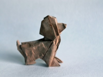 Origami dog by Patrick Kunz Tomic