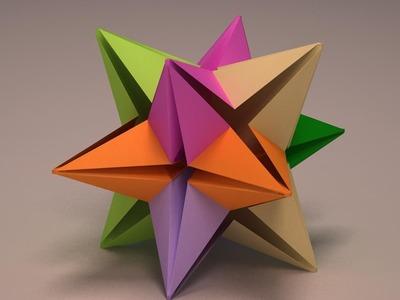 Origami modular star | 3D Origami Star Tutorial