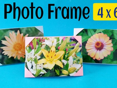 "Origami Tutorial to make your own  ""Photo frame 
