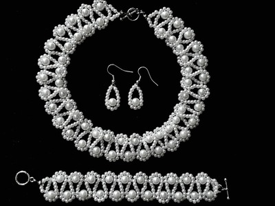 Pearl beading tutorial for beginners. Homemade beading jewelry