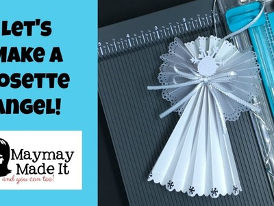 Rosette Angel Tutorial and We R Memory Keepers Score and Trim Board Review