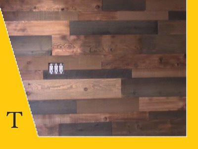 Shipping container video 18 (how to make wood look reclaimed and build a wood wall)