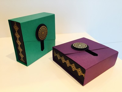 Slider Opening Gift Box - Video Tutorial using Moroccan Nights by Stampin' Up