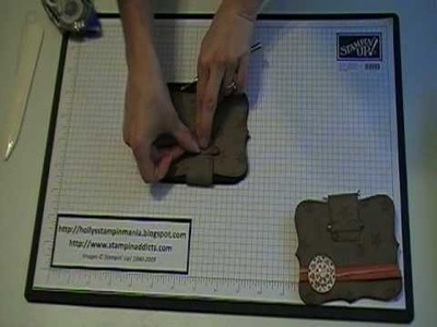 Stampin' Up! Tutorial~Top Note Wallet