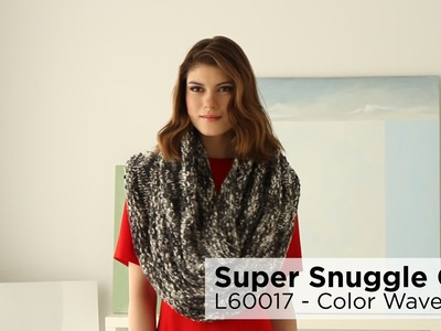Super Snuggle Cowl made with Color Waves