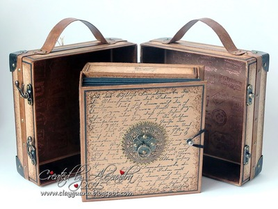 Vintage Style Suitcase with a Drawer Album