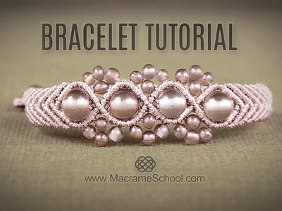 Wavy Macramé Flower Bracelet Tutorial by Macrame School