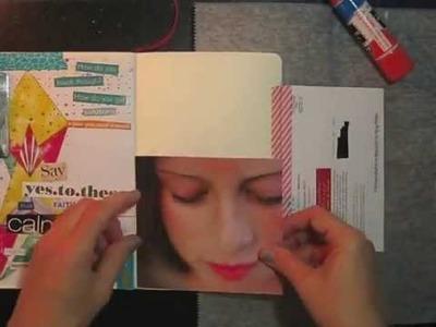 Working in my glue book