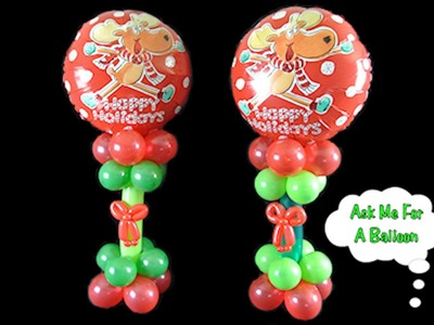 Christmas Balloon Centerpiece Decoration - How To Video Tutorial