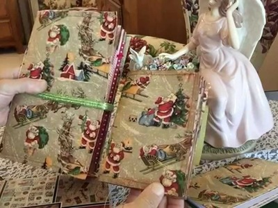 Christmas Junk Journal made from a 9x12 envelope #junkjournals