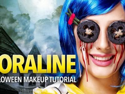 Coraline Halloween Makeup Tutorial