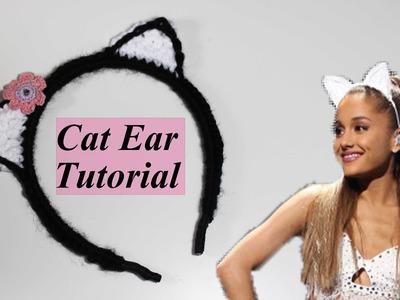 Crochet Cat Ear Headband Tutorial
