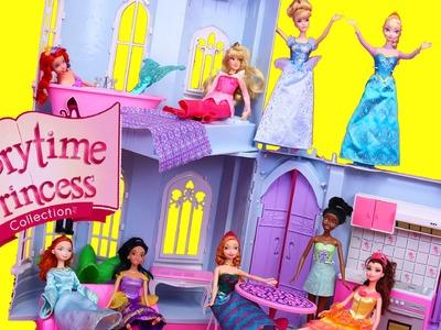 DISNEY PRINCESS CASTLE DOLLHOUSE New Storytime Princess Doll House + Frozen Elsa, Cinderella, Belle