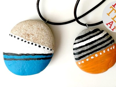 DIY Stone Pendants - Jewelry - Nature Crafts - Stone Crafts