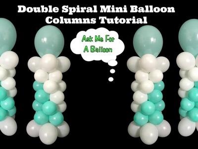 Double Spiral Mini Balloon Columns Tutorial