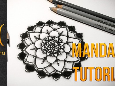 Drawing a Mandala with 4 Elements + Shading - Tutorial - by Barbara Din