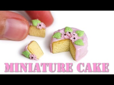 Easy Miniature Cake Tutorial. Polymer Clay Food