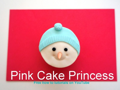 Frosty the Snowman Christmas Cupcake How to Tutorial