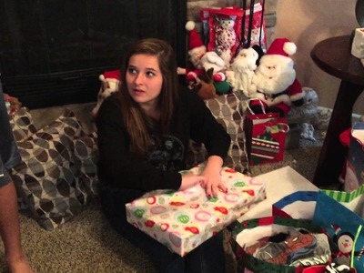 Fuller Kids Opening Presents at Nana Billie Montooth's: Christmas Eve 2014