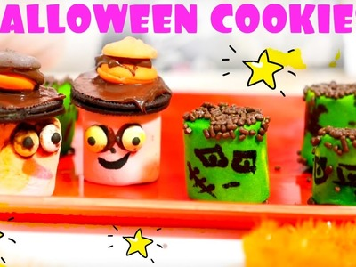HALLOWEEN IDEAS: Halloween cookies recipe for kids! Cookies recipes cooking video with Marshmallow
