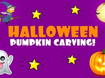 How to carve Halloween pumpkins! Halloween PUMPKIN CARVING! Pumpkin Halloween & Halloween for kids
