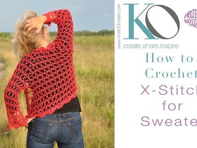 How to Crochet X Stitch
