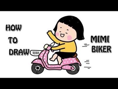 How to Draw Cartoons Mimi Summer Cartoon Animation Tutorial