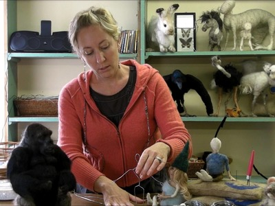 How to Make a Wire Armature of a Person by Sarafina Fiber Art