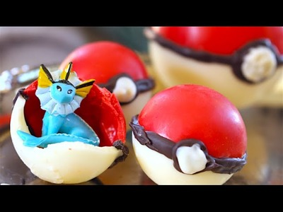 How To Make Chocolate Poké Ball Treats! With Pokemon Inside!