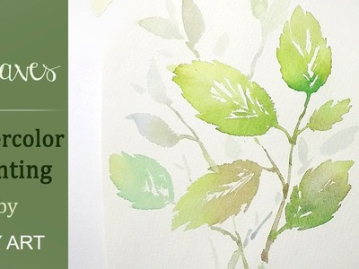 How to paint leaves in watercolors (quick & easy)
