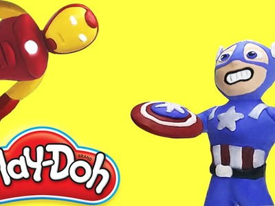 Iron Man vs Captain America Civil War Funny Play Doh Stop motion Animation Movies For Kids | Zilo TV