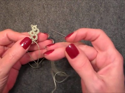Lesson 15 Adding more thread and hiding ends in Needle tatting