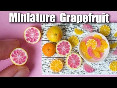Miniature Polymer Clay Grapefruit Cane Tutorial. Dollhouse Food