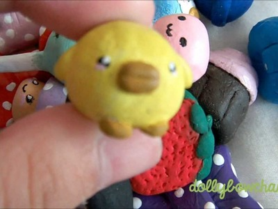My first air-drying clay charms (hand painted)♥ ^.^