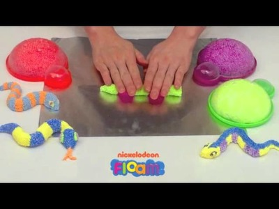 Nickelodeon Floam Project  #10 -- How to Use Floam to Make a Colorful Snake