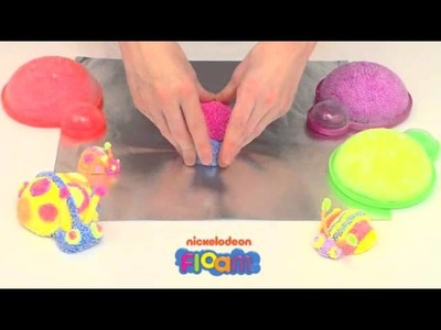 Nickelodeon Floam Project #5 -- How to Use Floam to Make a Ladybug